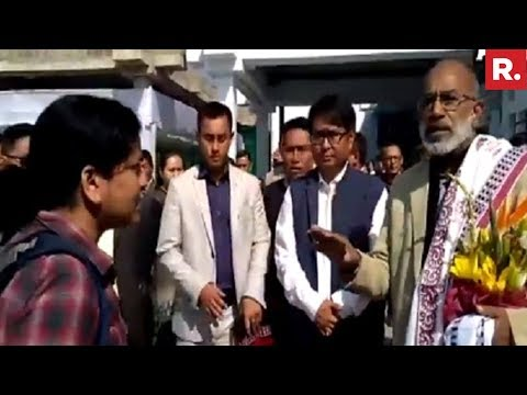 VVIP Mantri - KJ Alphons Confronted By Angry Doctor In Imphal