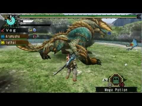Monster Hunter Portable 3rd - Zinogre/Jinouga (Long Sword) ジンオウガ thumbnail