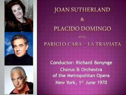 Joan Sutherland & Placido Domingo sing Parigi O Cara (La Traviata)