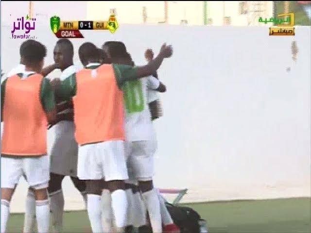 هدف لاعب المنتخب الوطني اعلي الشيخ الفلاني في شباك المنتخب الغيني