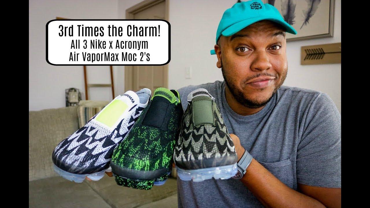 f3b38cc84eddf ALL THREE Nike Acronym Air Vapormax Moc 2 s + My Opinion on SNEAKER ...