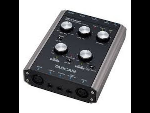 Unboxing Interface de Audio Tascam US-122 mkII
