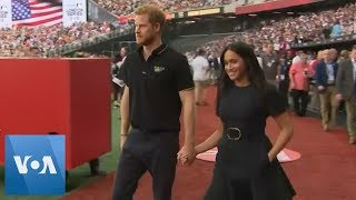 Prince Harry, Meghan Markle Watch London's First Major League Baseball Game