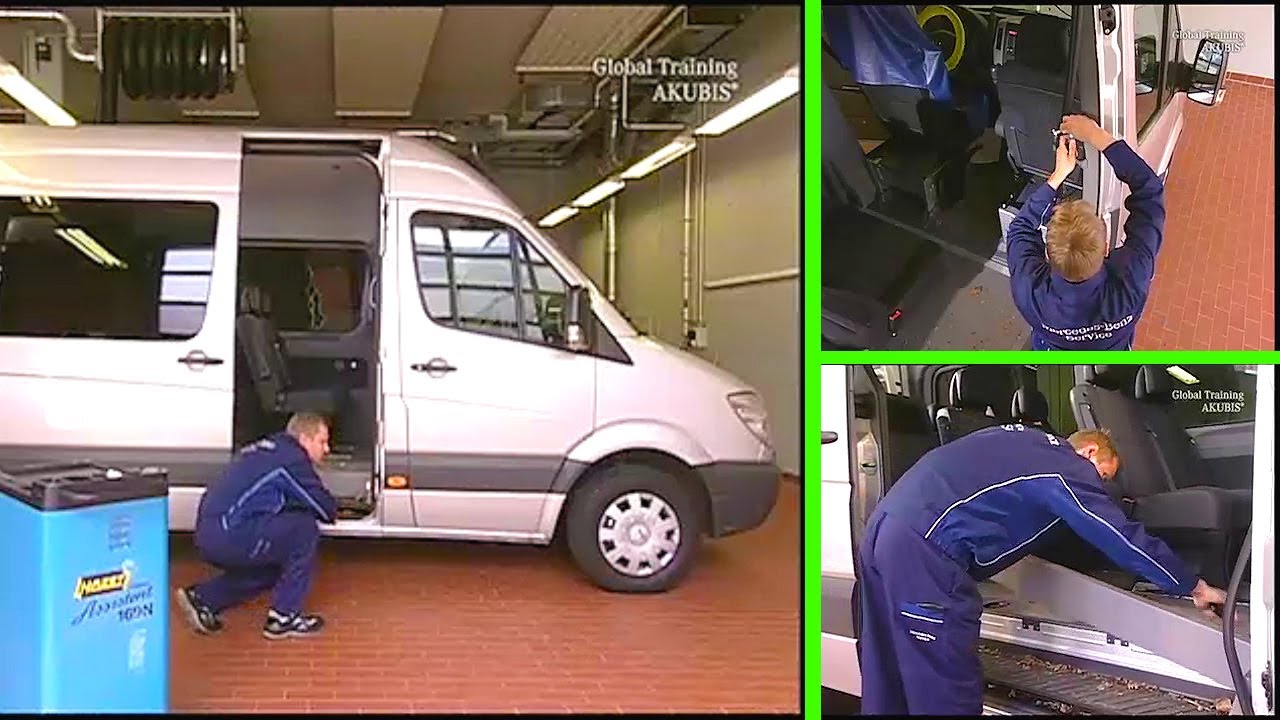 medium resolution of mercedes benz sprinter replace cable track on load compartment door