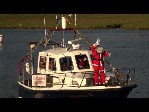 Kirkcudbright Welcomes Santa ToThe Harbour 2017