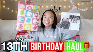 MY 13TH BIRTHDAY GIFT HAUL!! Vlogmas Day 11!! Nicole Laeno