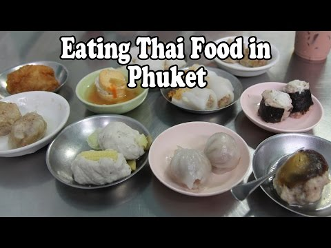 Thai Food: Eating Local Food in Phuket. Eating Delicious Thai Food in Phuket Thailand Vlog