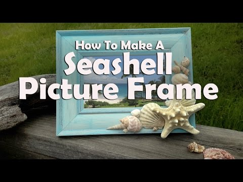 how to make a diy seashell picture frame youtube. Black Bedroom Furniture Sets. Home Design Ideas