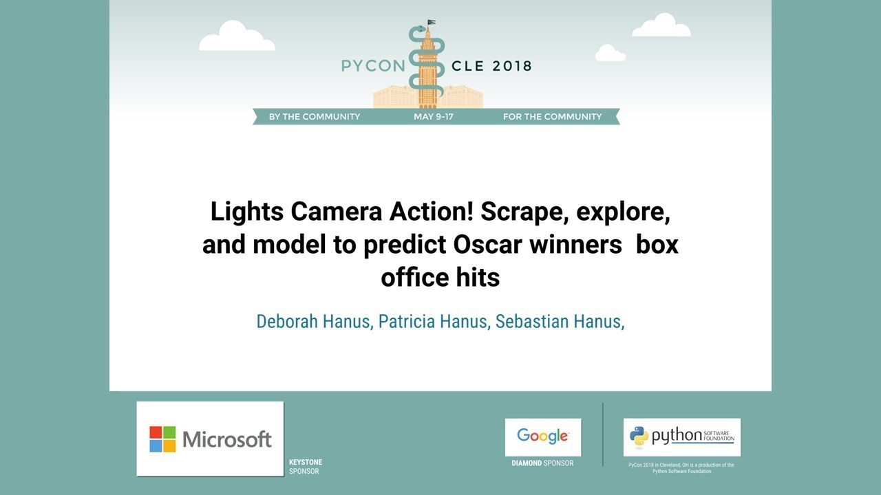 Image from Lights Camera Action! Scrape, explore, and model to predict Oscar winners & box office hits