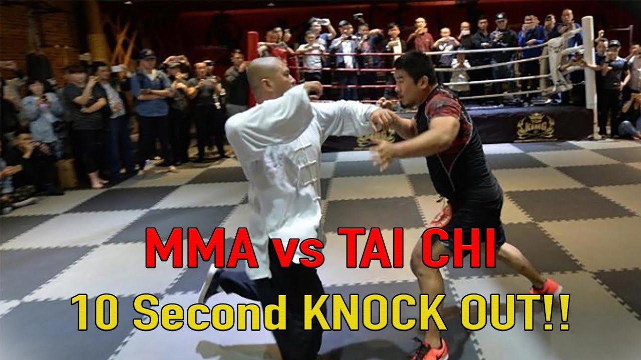 MMA vs Tai Chi 10 Second KNOCK OUT!!!
