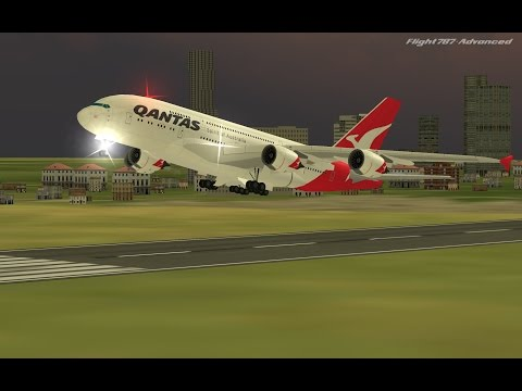 Flight 787 - Advanced - Airbus A380 [QANTAS: Spirit of AUSTRALIA from QATAR (OTHH) to BANGLADESH]