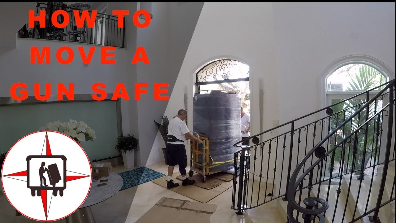 How To Move 1000 Lbs Gun Safe From Garage To An Office Inside Of A Home