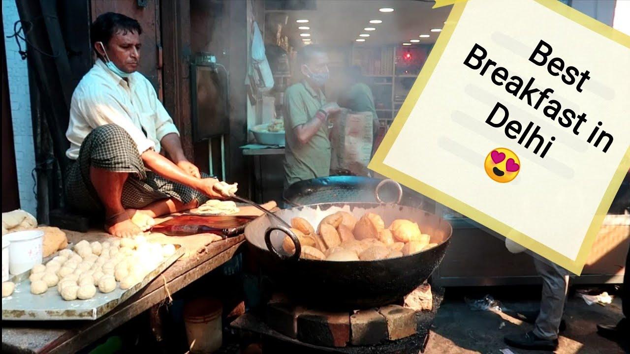Best Breakfast in Purani Delhi at Shyam Sweets, Chawri Bazaar   Hidden Gems of Delhi   #FoodVlog