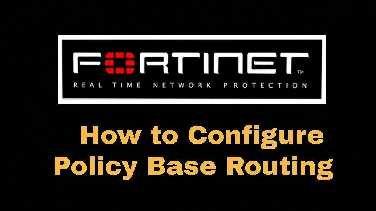 How to Configure Policy Base Routing on Fortigate
