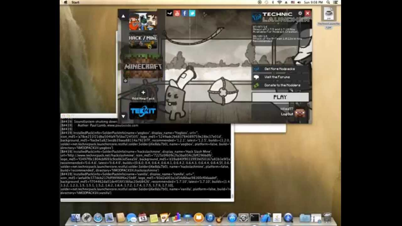 Technic Launcher Java 7 Fix on Mac by BadgerMan