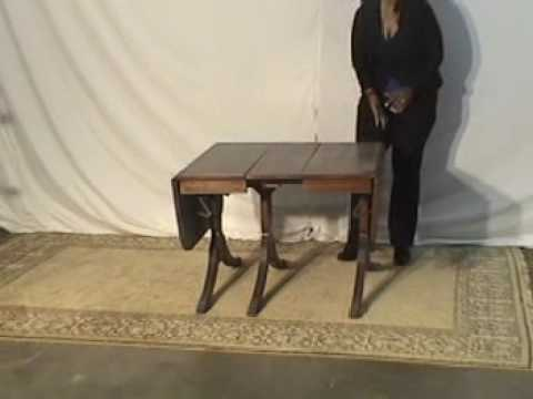 Duncan Pfyfe Mahogany Drop Leaf Table  wo31
