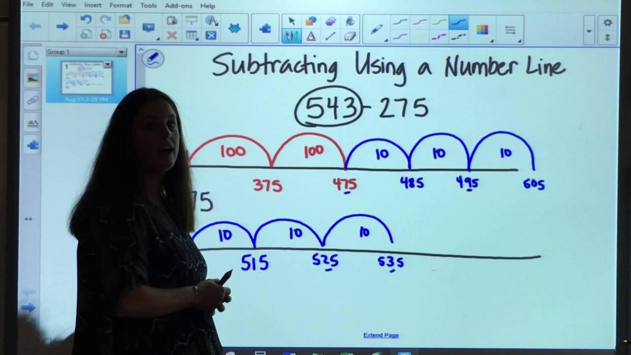 Subtracting on a Number Line - Grade 3 - YouTube