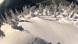 Whitewater backcountry skiing, British Columbia
