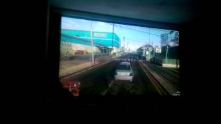 "GTA V PC, 106"" screen, 1080p 60fps"