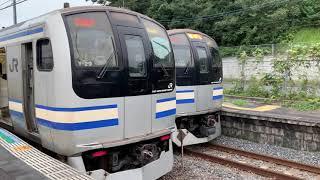 JR物井駅を入線.通過.発車する列車パート2。