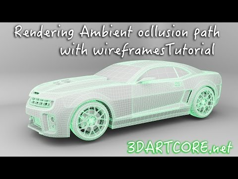 Maya Tutorial- How To Render Ambient Occlusion and
