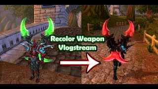 Vlogstream - Recolor Weapon - Red Warglaive - For dragonslay3r
