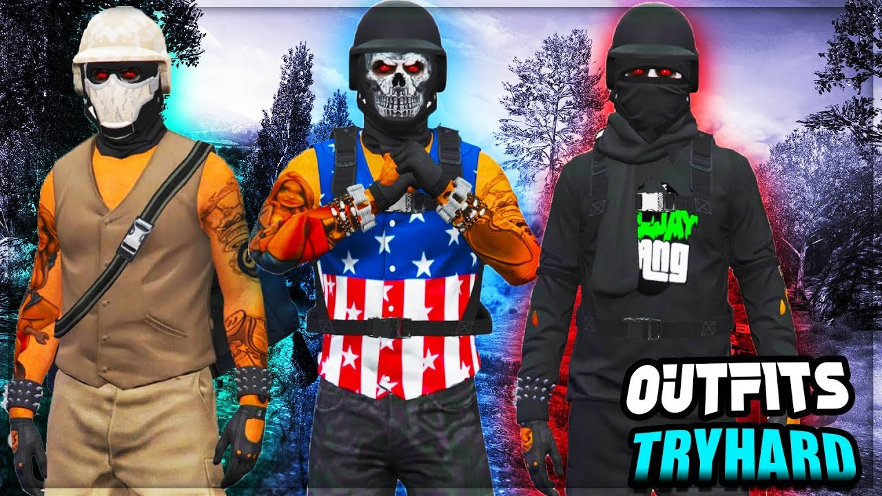 GTA 5 ONLINE TOP 3 BEST TRYHARD MODDED OUTFITS /TRAJES MODEADOS MODO LIBRE [PS4] - DjMikey - YouTube