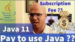Is Java 11 Paid ?