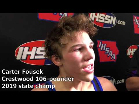 Crestwood's Carter Fousek Is A State Champ As A Freshman