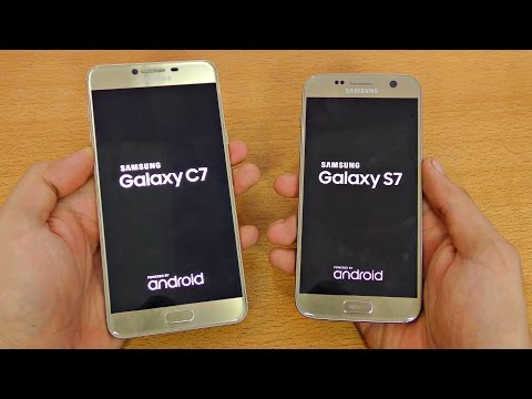 Samsung Galaxy C7 vs Galaxy S7 - Speed Test! (4K)