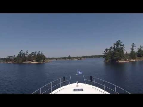 Boating Through Georgian Bay - Midland to Henry's Restaurant