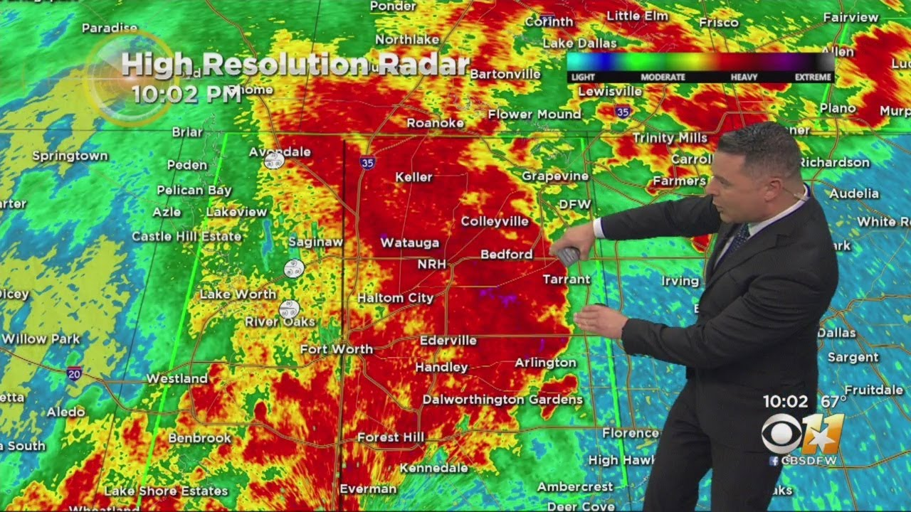Denton County under tornado warning as severe weather moves through North Texas