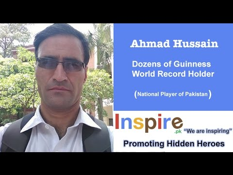Interview of Ahmad Hussain, Dozens of Guinness World Record Holder