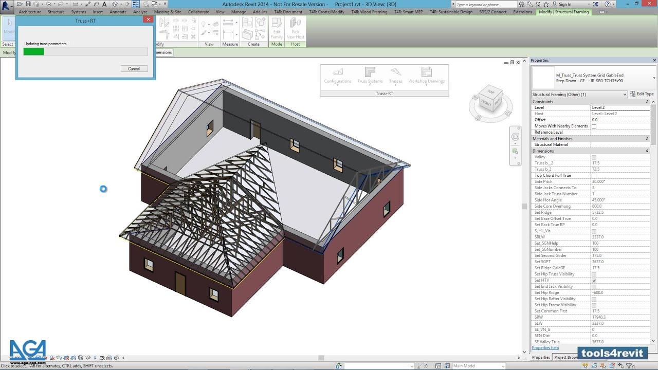 Timber Framing for Revit®: Roof Trusses   Wood Framing Truss+ RT