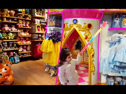 Thumbnail: Princess Castle Transform Emily Playing in Disney Toy Store