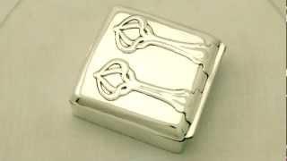 Sterling Silver Jewellery Box - Art Nouveau Style -- Antique Edwardian - Ac Silver (w6560)