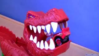 T-Rex Takedown Dinosaur Eats Lightning McQueen DisneyPixarCars Playset by Disney Collector