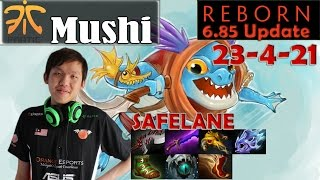Mushi - Slark Safelane Pro Gameplay | 23 - 4 | Dota 2 MMR