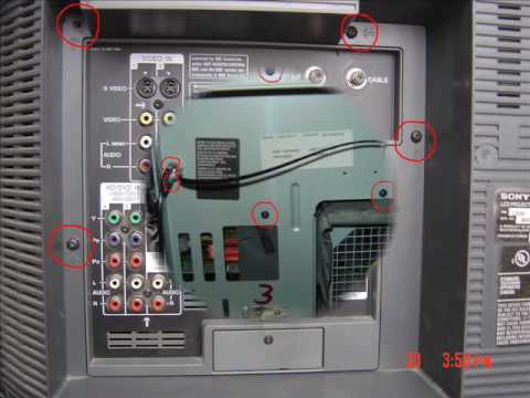 How to change the thermal fuse on a sony kdf-e60a20 - YouTube