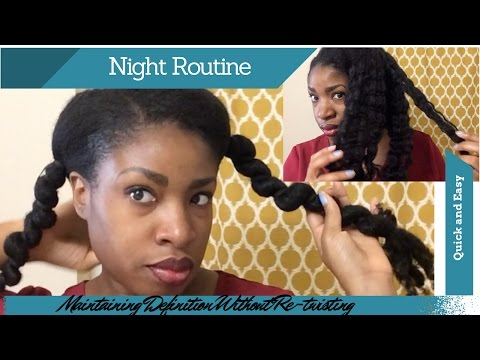 My Nightly 4b/4c Hair Routine (Sometimes) | Maintaining Definition Without Re-twisting