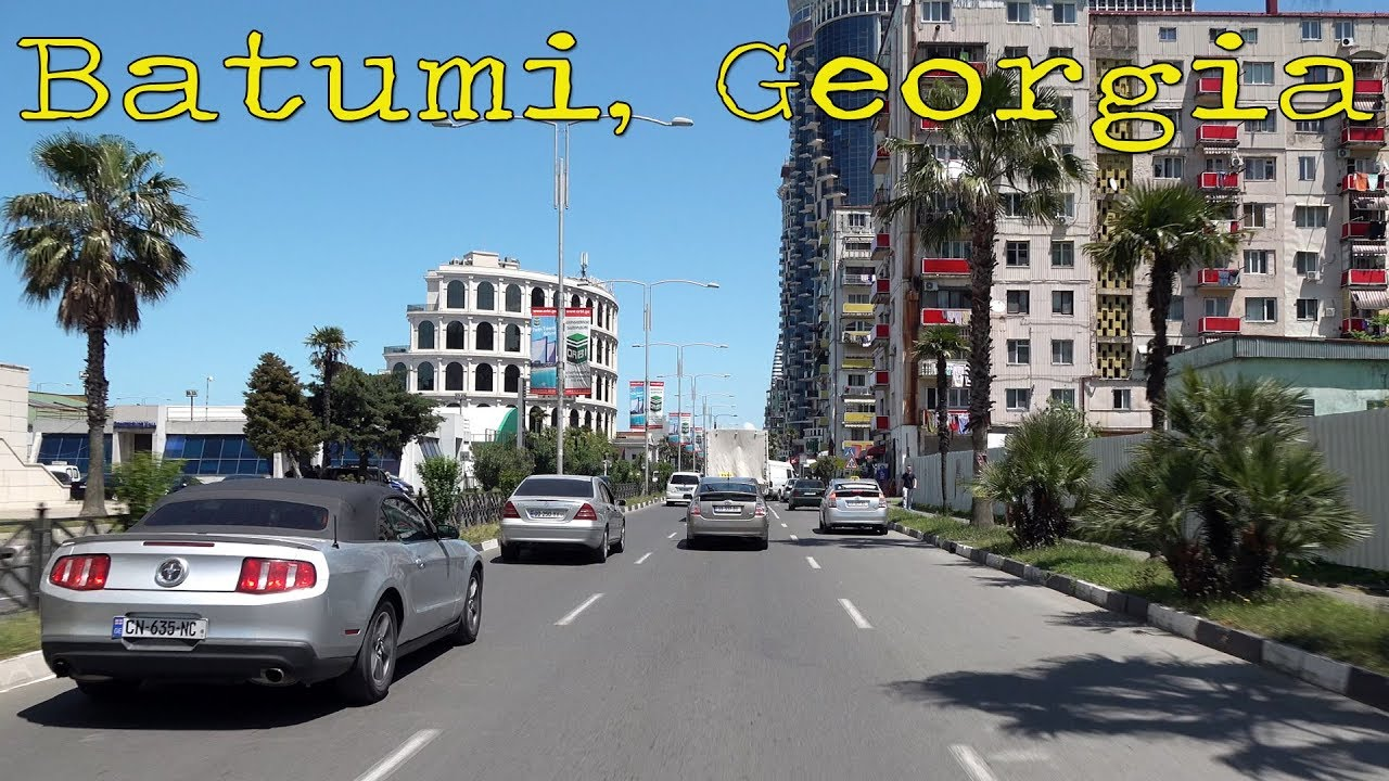 Driving in Batumi Georgia 4K