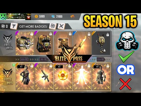 GARENA FREEFIRE Elite Pass Season 15 Full Honest Review    Should You Buy ???