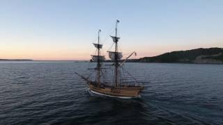 Tall Ship Lady Washington - 4K video