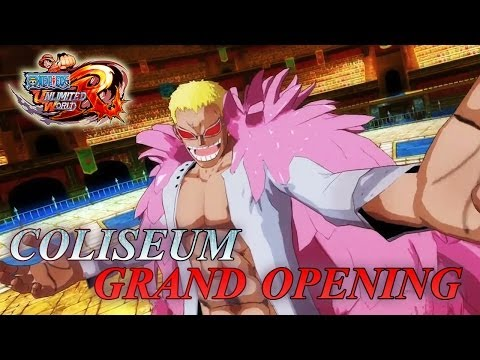 One Piece Unlimited World Red - PS3/3DS/PS Vita/Wii U - Coliseum Grand Opening (English trailer)