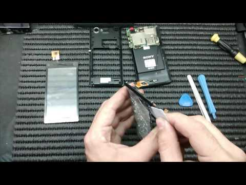 Xperia L c2104 Troca do touch Replacing the touch display