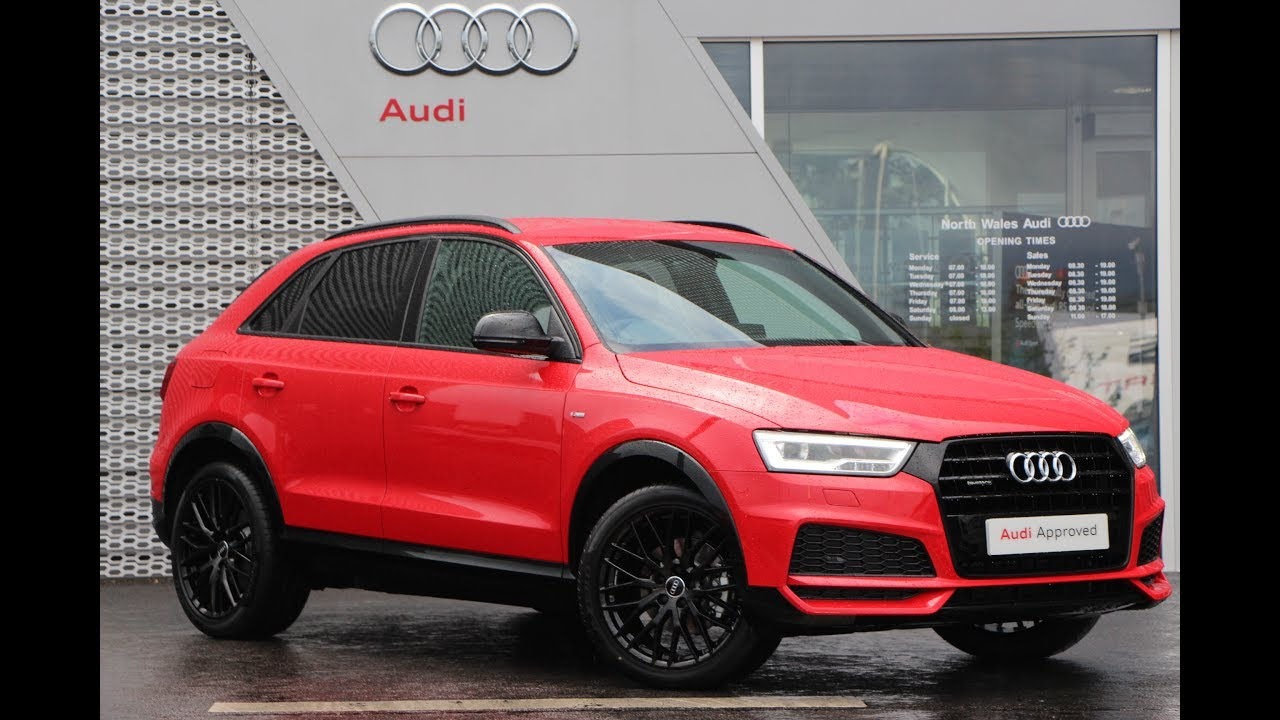 cx17oag audi q3 tdi quattro s line black edition red 2017 youtube. Black Bedroom Furniture Sets. Home Design Ideas