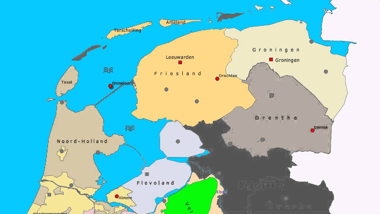 Topografie Noord Nederland Www Topomania Net