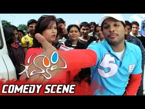 Allu Arjun Scolding Genelia in TV Channel Program | Happy Movie Comedy Scene