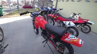 XR80 CRF80 comparison 1983, 1993, 2003, 2005