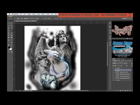 How To Use Photoshop For Tattoo Designs Youtube
